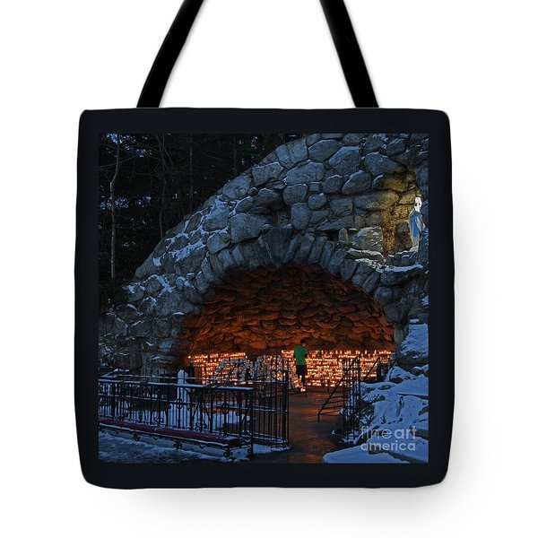 Twilight Grotto Prayer Tote Bag