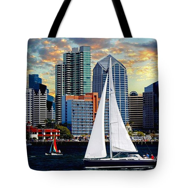 Twilight Harbor Curise1 Tote Bag by Chambers and  De Forge
