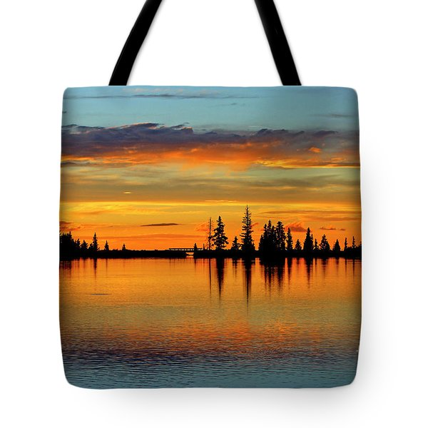 Twilight Lake Reflections In Colorado Tote Bag