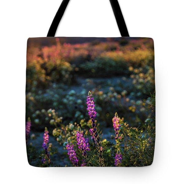 Twilight Lupine Tote Bag