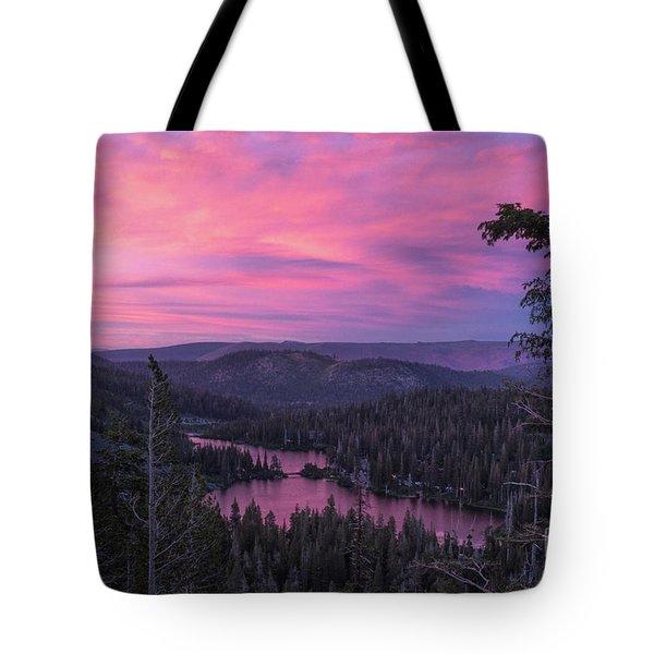 Twilight Mammoth Lakes  Tote Bag