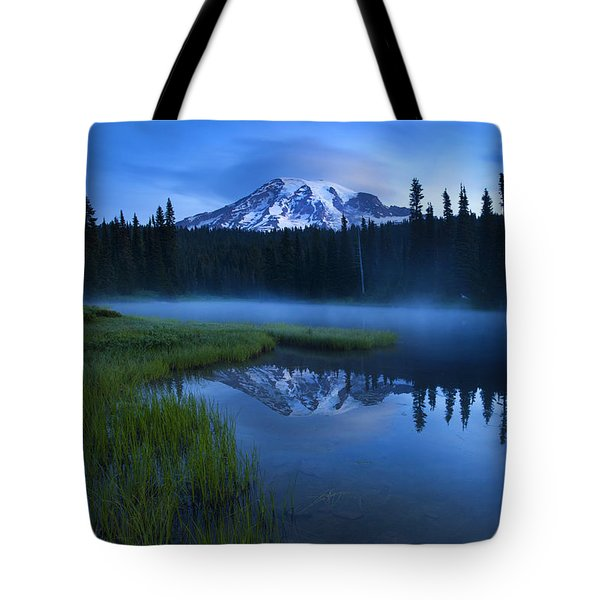 Twilight Mist Rising Tote Bag by Mike  Dawson