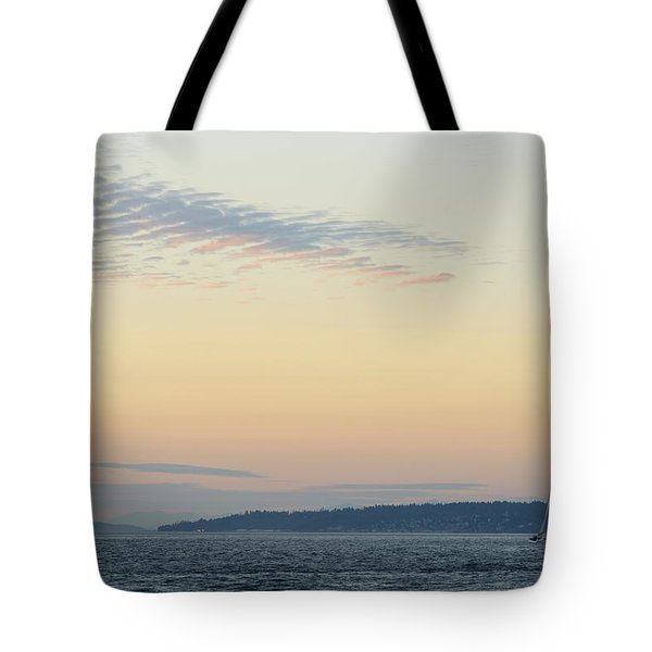 Twilight Moment In Puget Sound Tote Bag
