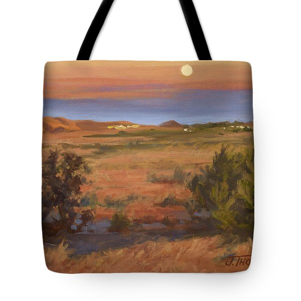Twilight Moonrise, Valyermo Tote Bag
