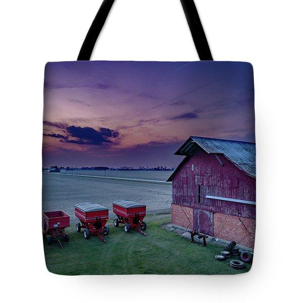 Twilight On The Farm Tote Bag
