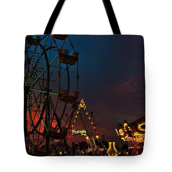 Twilight On The Midway  Tote Bag by John Harding