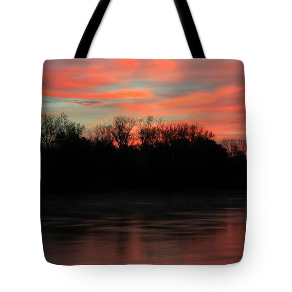 Tote Bag featuring the photograph Twilight On The River by Chris Berry