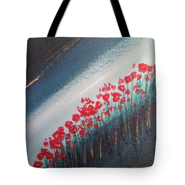 Twilight Poppies Tote Bag