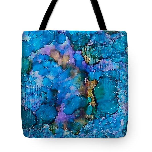 Tote Bag featuring the painting Twilight Recall Ink #20 by Sarajane Helm