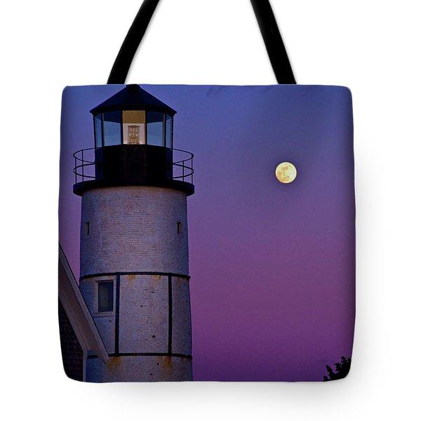 Twilight At Sandy Neck Lighthouse Tote Bag