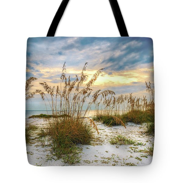 Twilight Sea Oats Tote Bag by Steven Sparks