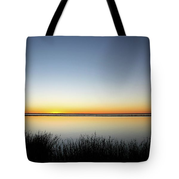 Twilight Stillness Down By The Beach Lagoon Tote Bag
