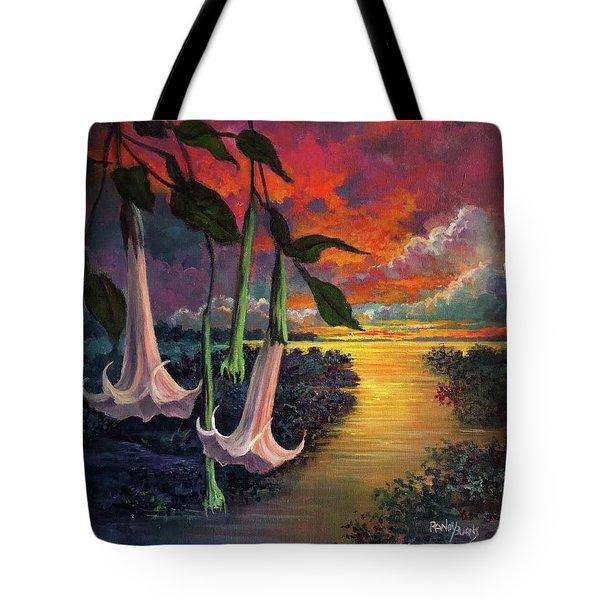 Twilight Trumpets Tote Bag