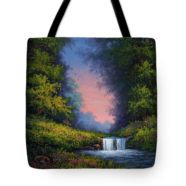 Tote Bag featuring the painting Twilight Whisper by Kyle Wood