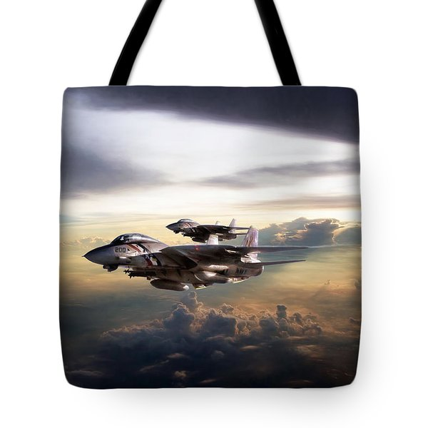 Tote Bag featuring the digital art Twilight's Last Gleaming by Peter Chilelli
