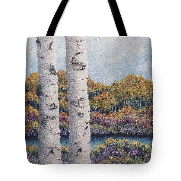 Twin Aspens Tote Bag