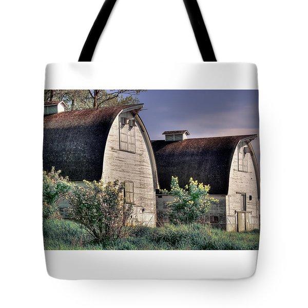 Twin Barns, Nisqually, Wa Tote Bag by Greg Sigrist
