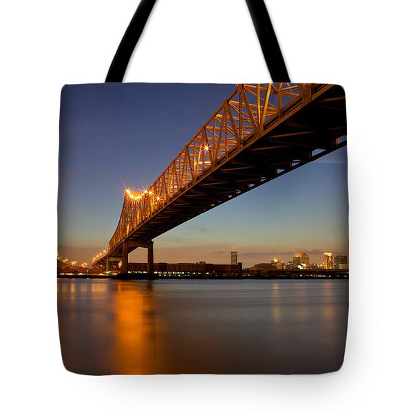 Tote Bag featuring the photograph Twin Bridges by Evgeny Vasenev