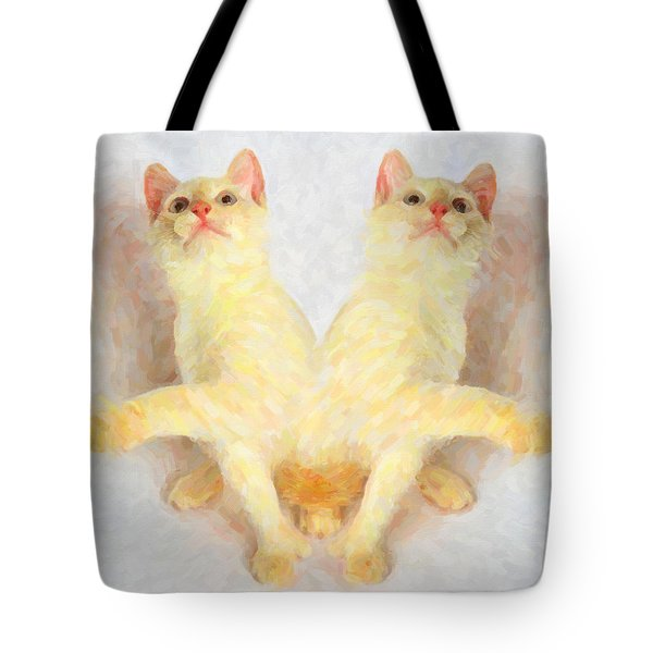 Twin Cats Tote Bag by Andre Faubert