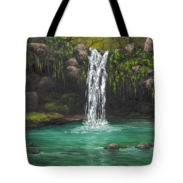 Tote Bag featuring the painting Twin Falls 2 by Darice Machel McGuire