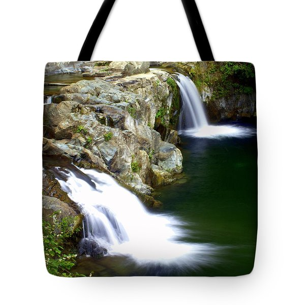Twin Falls 3 Tote Bag by Marty Koch