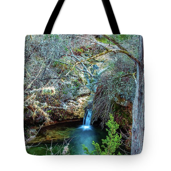 Twin Falls At Peddernales Falls State Park Tote Bag