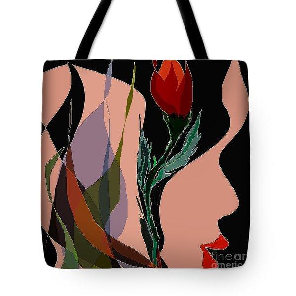 Twin Fire Flower Head 2 Tote Bag by Navo Art