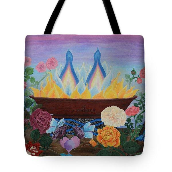 Twin Flame Tote Bag