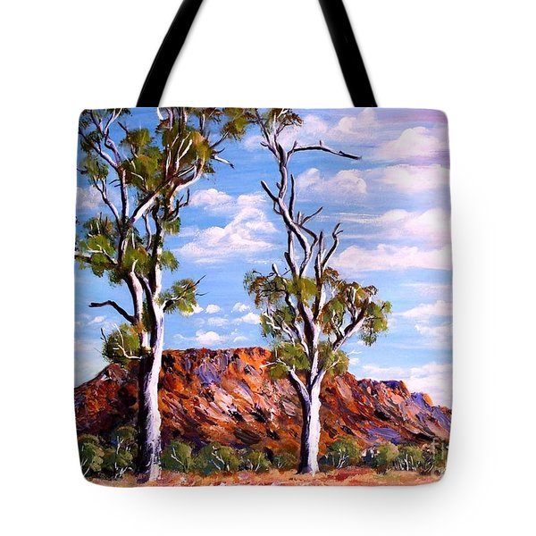 Twin Ghost Gums Of Central Australia Tote Bag