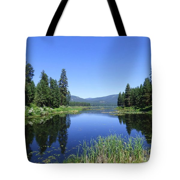 Twin Lakes Reflection Tote Bag
