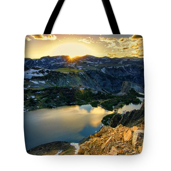 Twin Lakes Sunset Tote Bag