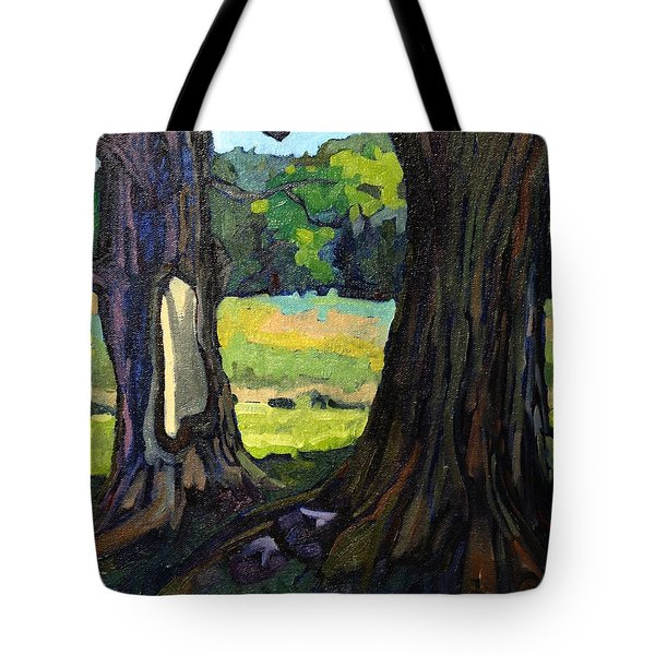 Twin Maples Tote Bag by Phil Chadwick