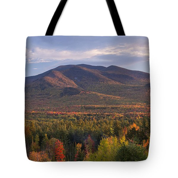 Twin Mountain Autumn Sunset Tote Bag
