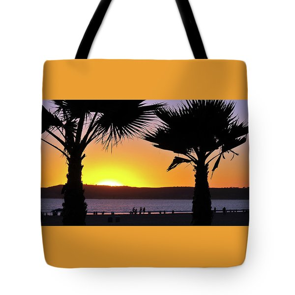 Twin Palms At Sunset Tote Bag