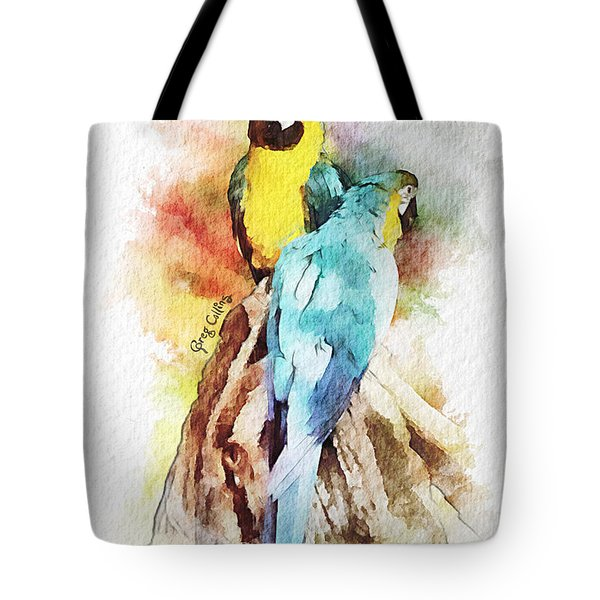 Twin Parrots Tote Bag