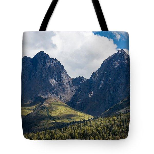 Twin Peaks In Mid-summer Tote Bag
