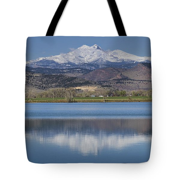 Twin Peaks Mccall Reservoir Reflection Tote Bag by James BO  Insogna