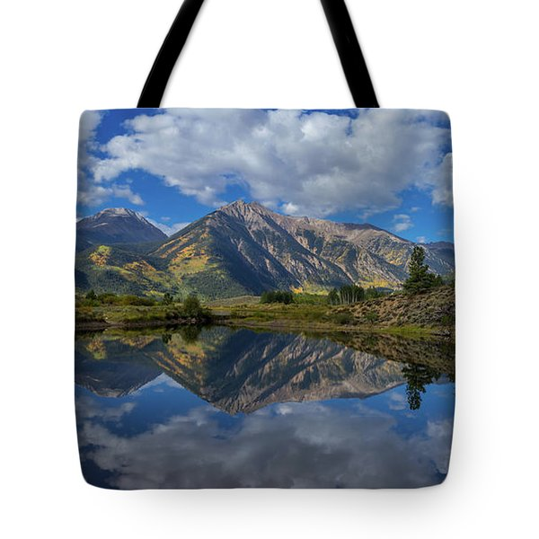 Twin Peaks Reflection Autumn Reflection Tote Bag