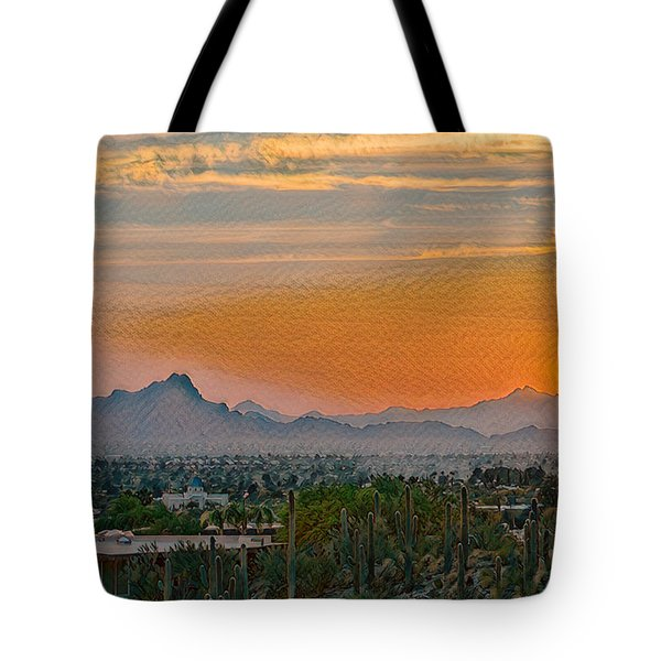 Tote Bag featuring the photograph Twin Peaks Sunset Remix by Dan McManus