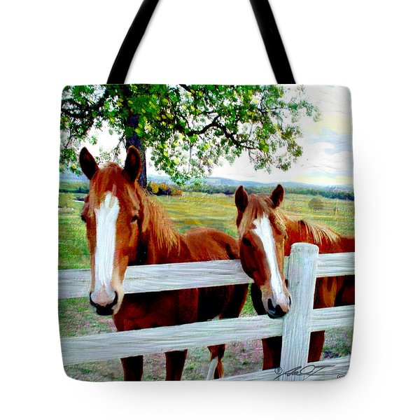 Twin Ponies Tote Bag