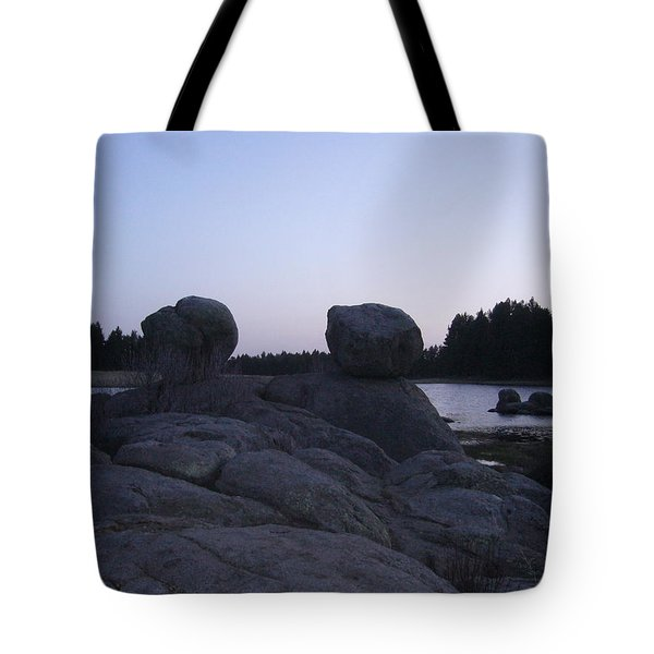 Twin Rocks Tote Bag
