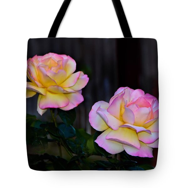 Twin Roses Tote Bag by Josephine Buschman
