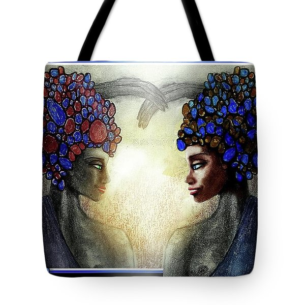 Twin Sisters Tote Bag