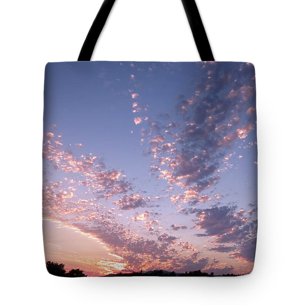 Twin Sisters Sunset Tote Bag