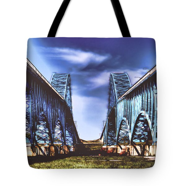 Twin Spanned Arched Tote Bag