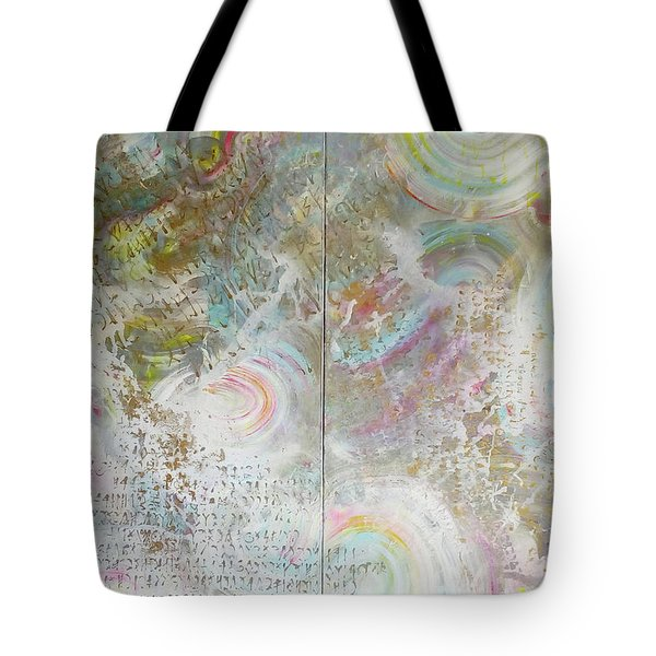 Tote Bag featuring the painting Twin Spica by Eva Konya