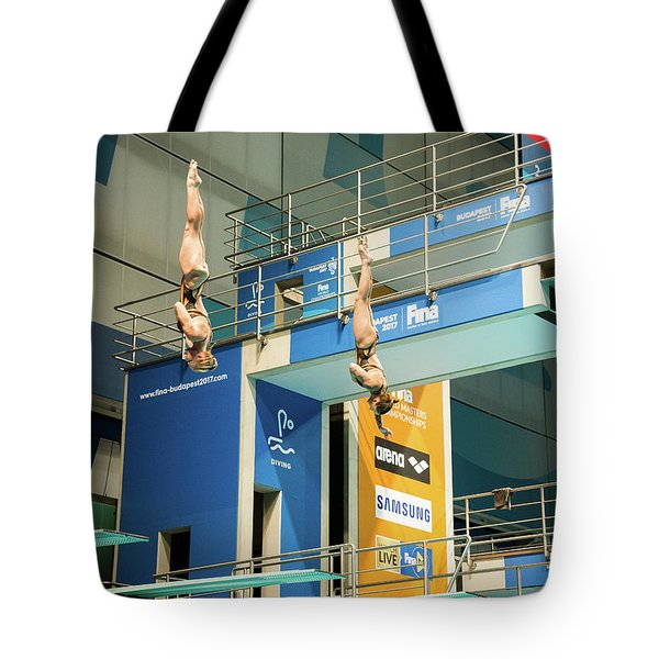 Tote Bag featuring the photograph Twin Spin by Alex Lapidus