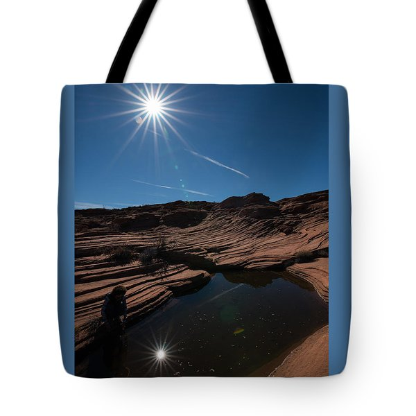 Twin Stars Reflection Tote Bag