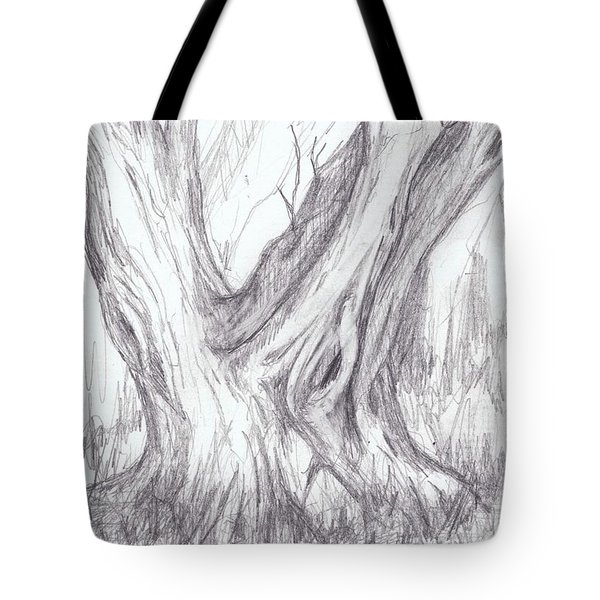 Twin Tree Tote Bag by Ruth Renshaw