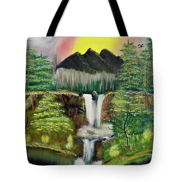 Twin Waterfalls Tote Bag